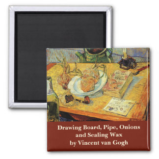 Van Gogh Vintage Post Impressionism Still Life Art Fridge Magnet