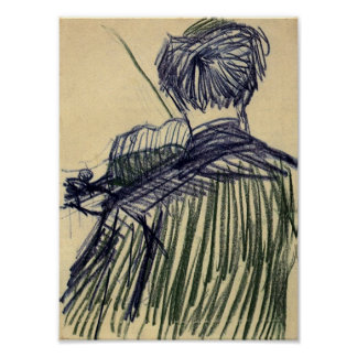 Van Gogh - Violinist Seen from the Back Poster