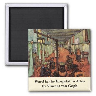 Van Gogh; Ward in the Hospital in Arles Square Magnet