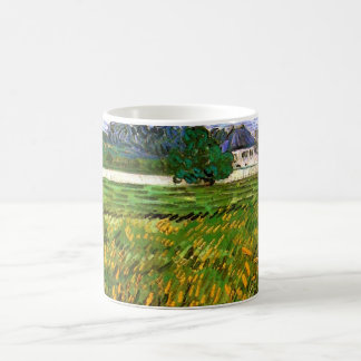 Van Gogh Wheat Field at Auvers with White House Coffee Mug