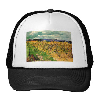 Van Gogh Wheat Field Cornflowers, Vintage Fine Art Cap