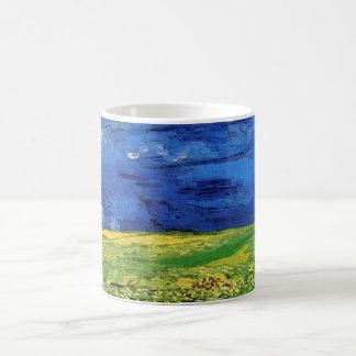 Van Gogh Wheat Field Under a Clouded Sky Basic White Mug