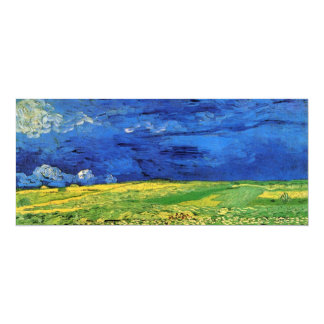 Van Gogh Wheat Field Under a Clouded Sky Card