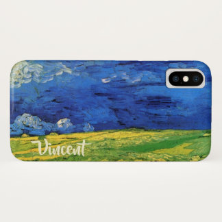 Van Gogh Wheat Field Under a Clouded Sky iPhone X Case