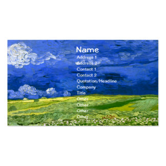 Van Gogh Wheat Field Under Clouded Sky (F778) Business Card Templates