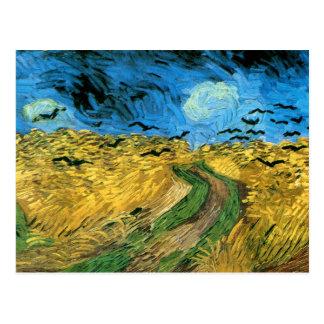 Van Gogh - Wheat Field Under Threatning Sky s Postcards