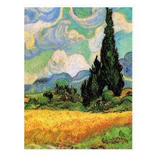 Van Gogh; Wheat Field w Cypresses at Haute Galline Post Card