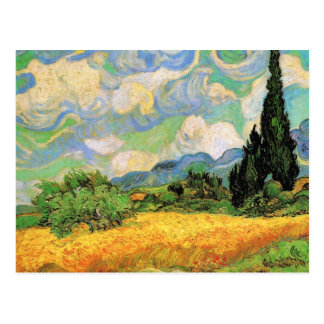 Van Gogh Wheat Field w Cypresses at Haute Galline Postcard
