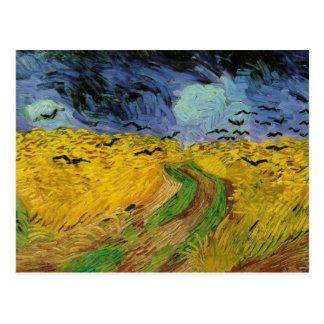 van Gogh - Wheat Field with Crows (1890) Postcard
