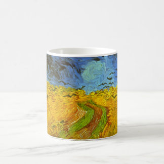 Van Gogh Wheat Field with Crows, Vintage Fine Art Coffee Mug