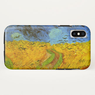 Van Gogh Wheat Field with Crows, Vintage Fine Art iPhone X Case