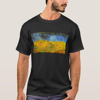 Van Gogh Wheat Field with Crows, Vintage Fine Art T-Shirt