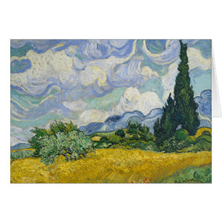 Van Gogh Wheat Field with Cypresses Card