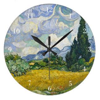 Van Gogh Wheat Field with Cypresses Clocks