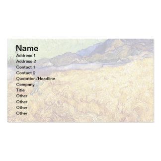Van Gogh - Wheat Field With Reaper Business Card Templates