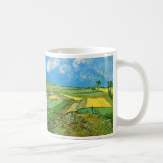 Van Gogh Wheat Fields at Auvers Under Clouded Sky Basic White Mug