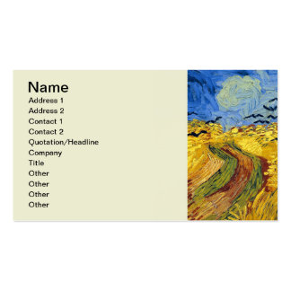 Van gogh wheat fields famous painting pack of standard business cards