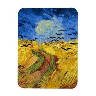 Van gogh wheat fields famous painting rectangular photo magnet