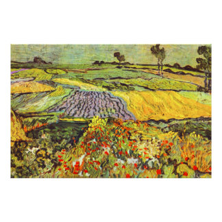 Van Gogh Wheat Fields near Auvers Fine Vintage Poster
