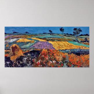 Van Gogh - Wheat Fields Near Auvers Poster