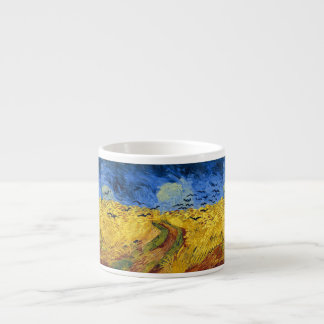 Van gogh wheat fields painting espresso cup