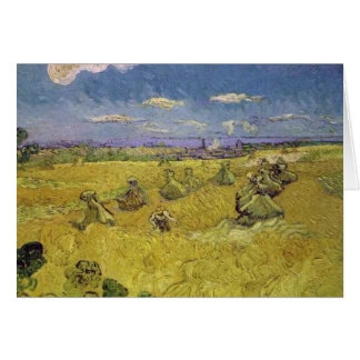 van gogh wheat stacks with reaper card