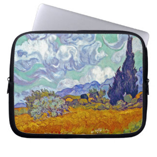 Van Gogh - Wheatfield With Cypresses Laptop Sleeve
