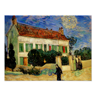 Van Gogh - White House by Night Poster