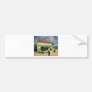 Van Gogh White house night Bumper Sticker