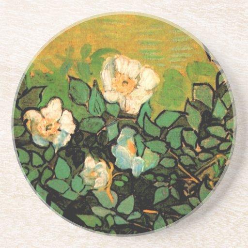 Van Gogh Wild Roses (F597) Beverage Coaster