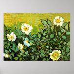 Van Gogh - Wild Roses, Van Gogh floral painting Poster