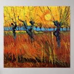 Van Gogh Willows at Sunset Poster