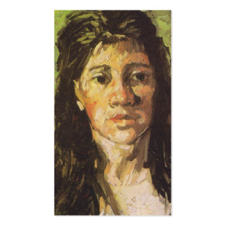 Van Gogh | Woman with her Hair Loose Pack Of Standard Business Cards