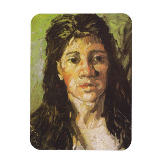 Van Gogh   Woman with her Hair Loose Rectangular Photo Magnet