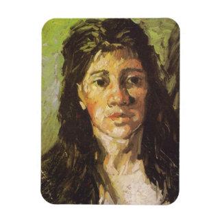 Van Gogh | Woman with her Hair Loose Rectangular Photo Magnet