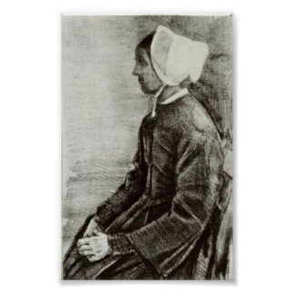 Van Gogh - Woman with White Bonnet, Sien's Mother Posters