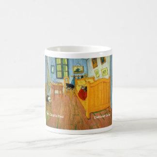 Van Gogh's Bedroom (Artist's Cats Added) Basic White Mug