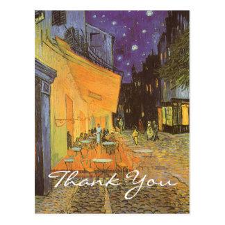 Van Gogh's Cafe Terrace at Night Postcard