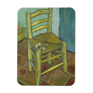 Van Gogh's Chair by Vincent Van Gogh Flexible Magnet