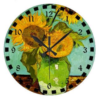 Van Gogh's Famous Painting, Sunflowers, 1888 Wallclocks