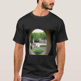 van goghs final view  window by attic room deathbe T-Shirt