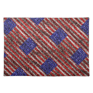 Van Gogh's Flag of the United States Place Mat