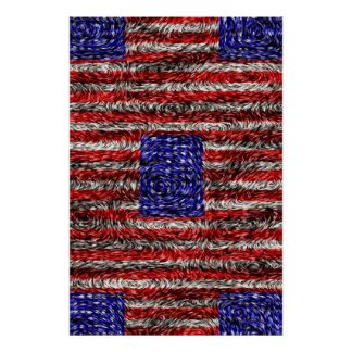 Van Gogh's Flag of the United States Poster