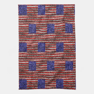 Van Gogh's Flag of the United States Kitchen Towels