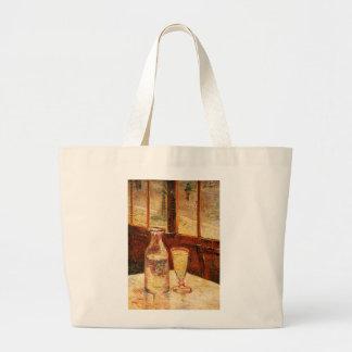 Van Gogh's 'Glass of Absinthe & a Carafe' Tote Bag Jumbo Tote Bag