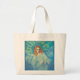 Van Gogh's 'Half Figure of an Angel' Tote Bag Jumbo Tote Bag