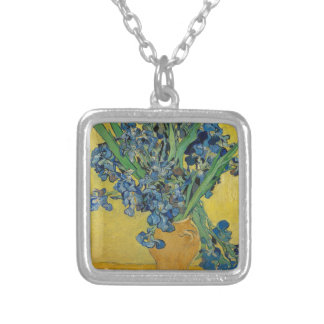Van Gogh's Iris Silver Plated Necklace