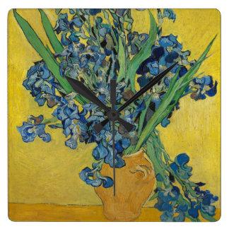 Van Gogh's Iris Wall Clocks