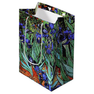 Van Goghs Irises Flowers Floral Gift Bag