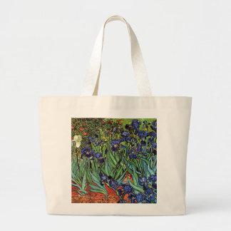 Van Gogh's 'Irises' Tote Bag Jumbo Tote Bag